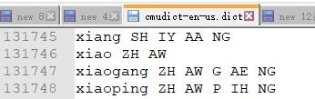 cmudict_chinese_words_exmaple